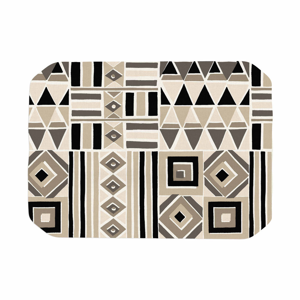 "Jacqueline Milton ""Heatwave - Latte"" Beige Brown Illustration Place Mat"