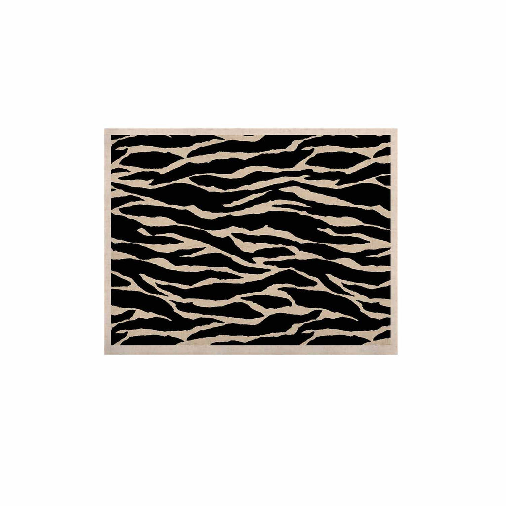 "Jacqueline Milton ""Safari"" Black Beige Mixed Media KESS Naturals Canvas (Frame not Included)"