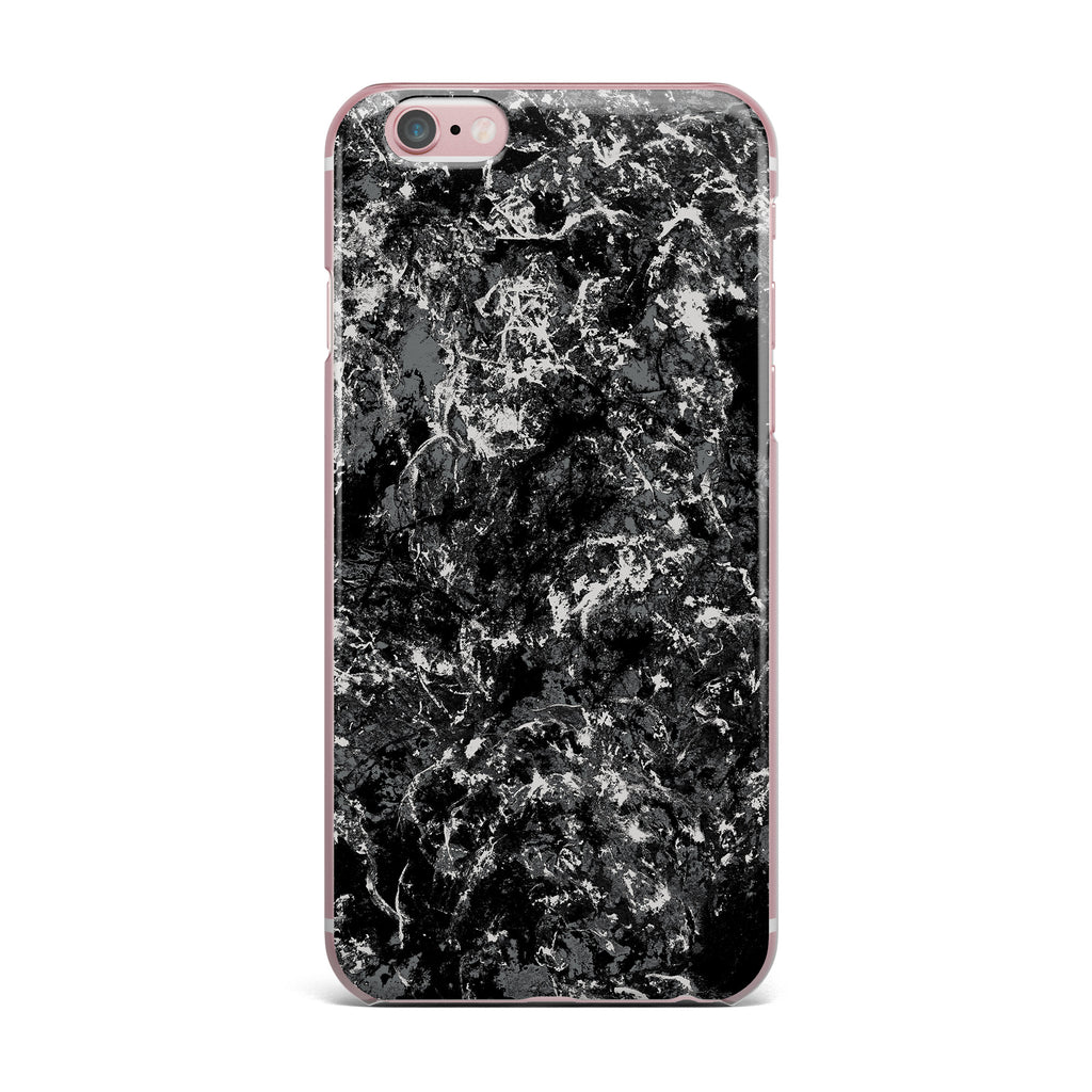 "Jacqueline Milton ""Stony Black"" Black Gray Painting iPhone Case - KESS InHouse"