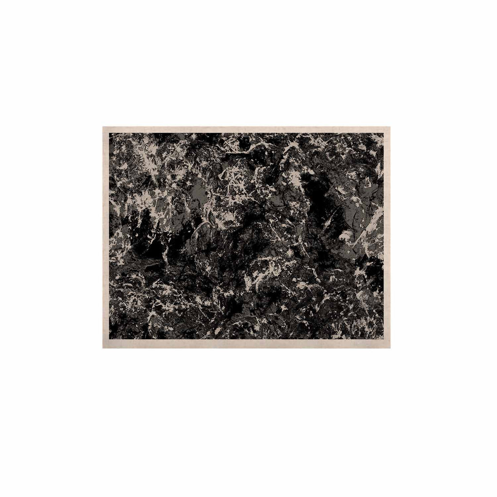 "Jacqueline Milton ""Stony Black"" Black Gray Painting KESS Naturals Canvas (Frame not Included)"