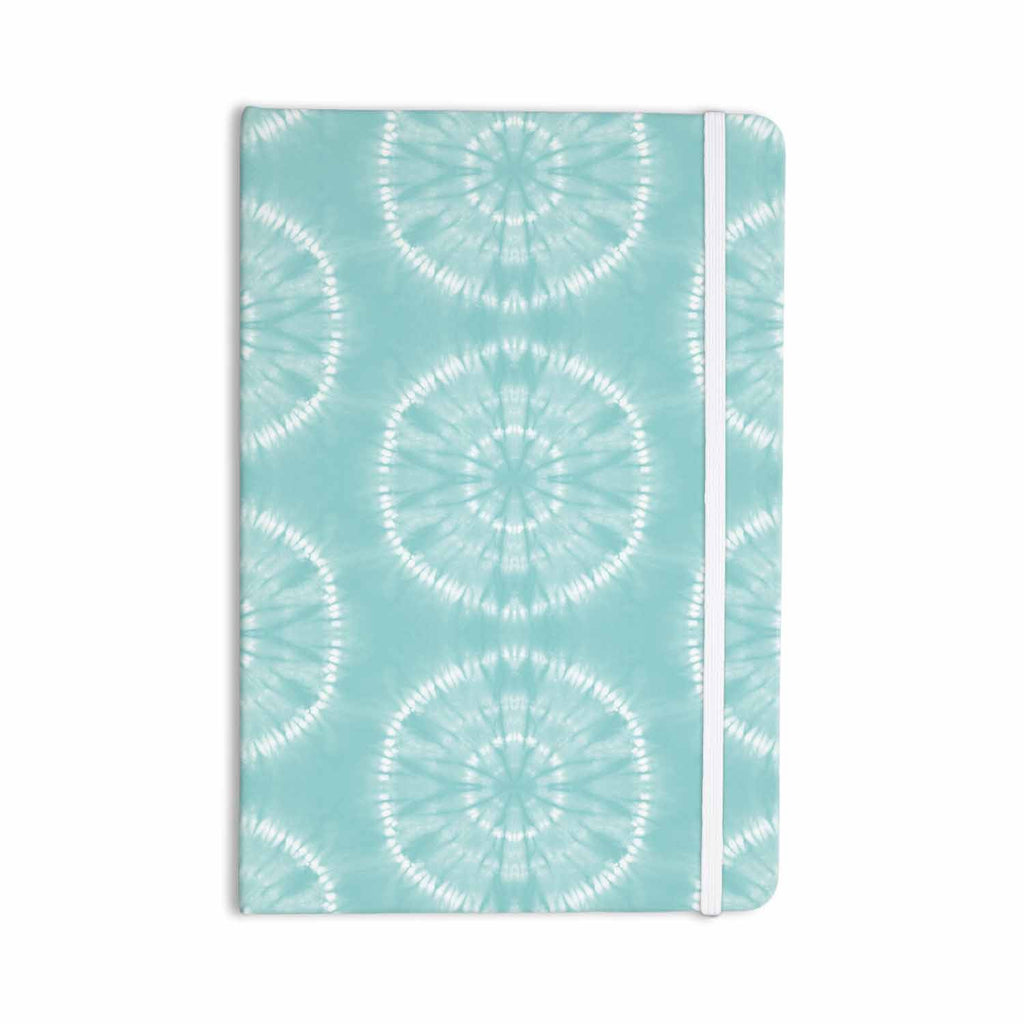 "Jacqueline Milton ""Shibori Circles - Aqua"" Teal Pastel Mixed Media Everything Notebook - KESS InHouse  - 1"