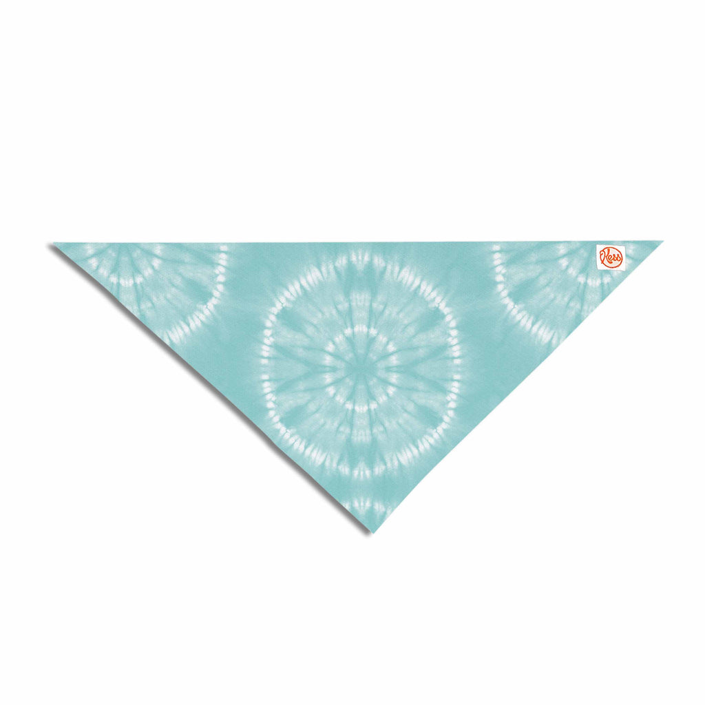 "Jacqueline Milton ""Shibori Circles - Aqua"" Teal Pastel Mixed Media Pet Bandana"