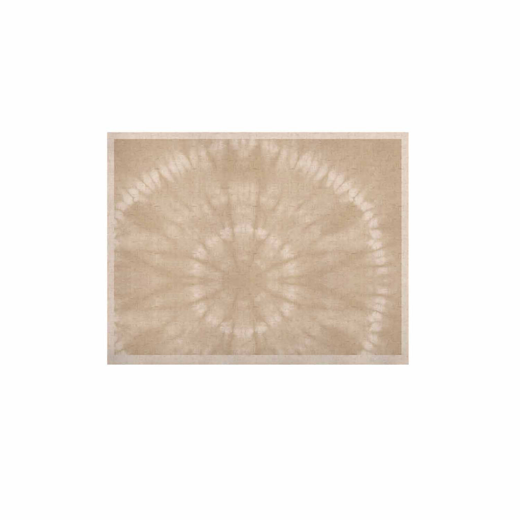 "Jacqueline Milton ""Shibori Circles - Latte"" Beige Pastel Mixed Media KESS Naturals Canvas (Frame not Included)"