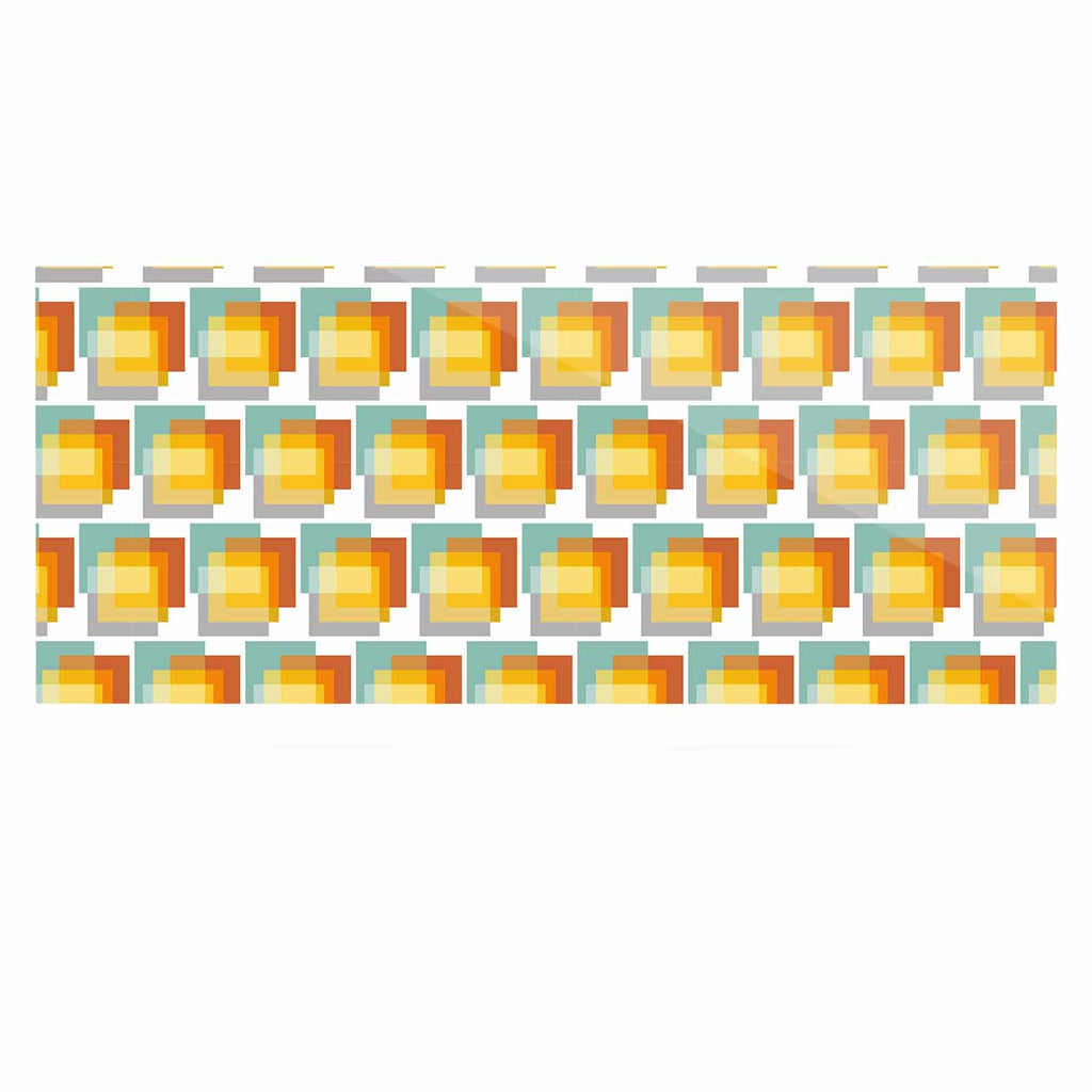 "Juliana Motzko ""GEO1"" Orange Multicolor Luxe Rectangle Panel - KESS InHouse  - 1"