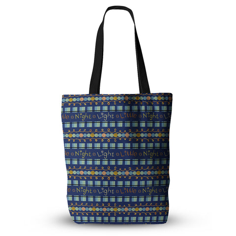 "Jane Smith ""Little Night Light"" Blue Gold Everything Tote Bag - Outlet Item"