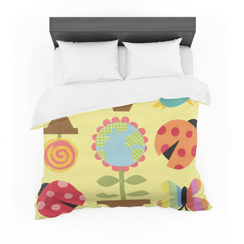 "Jane Smith ""Spring II"" Yellow Featherweight Duvet Cover - Outlet Item"