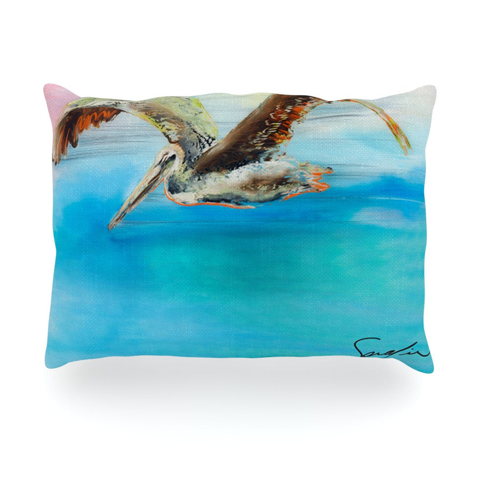 "Josh Serafin ""Coast"" Ocean Bird Oblong Pillow - KESS InHouse"