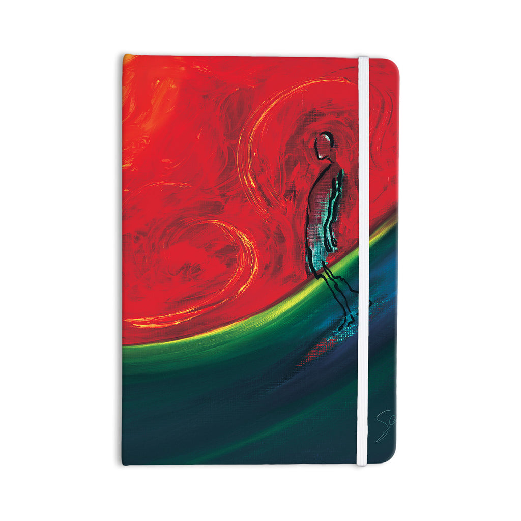 "Josh Serafin ""Glide"" Red Blue Everything Notebook - KESS InHouse  - 1"