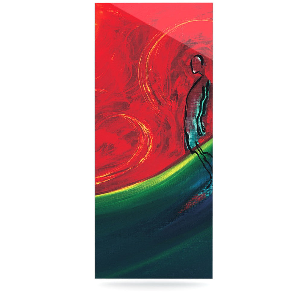 "Josh Serafin ""Glide"" Red Blue Luxe Rectangle Panel - KESS InHouse  - 1"