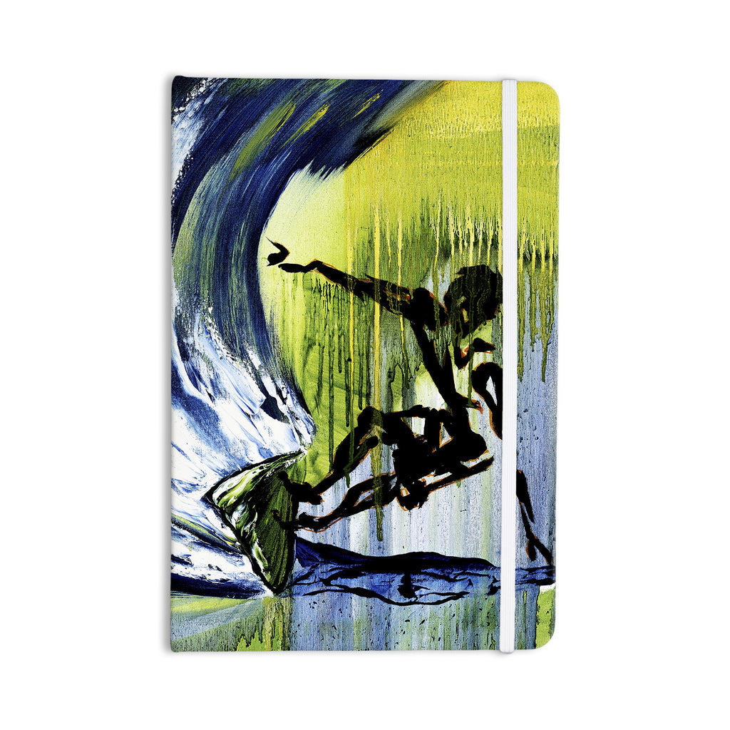 "Josh Serafin ""Greenroom"" Green Surfer Everything Notebook - KESS InHouse  - 1"