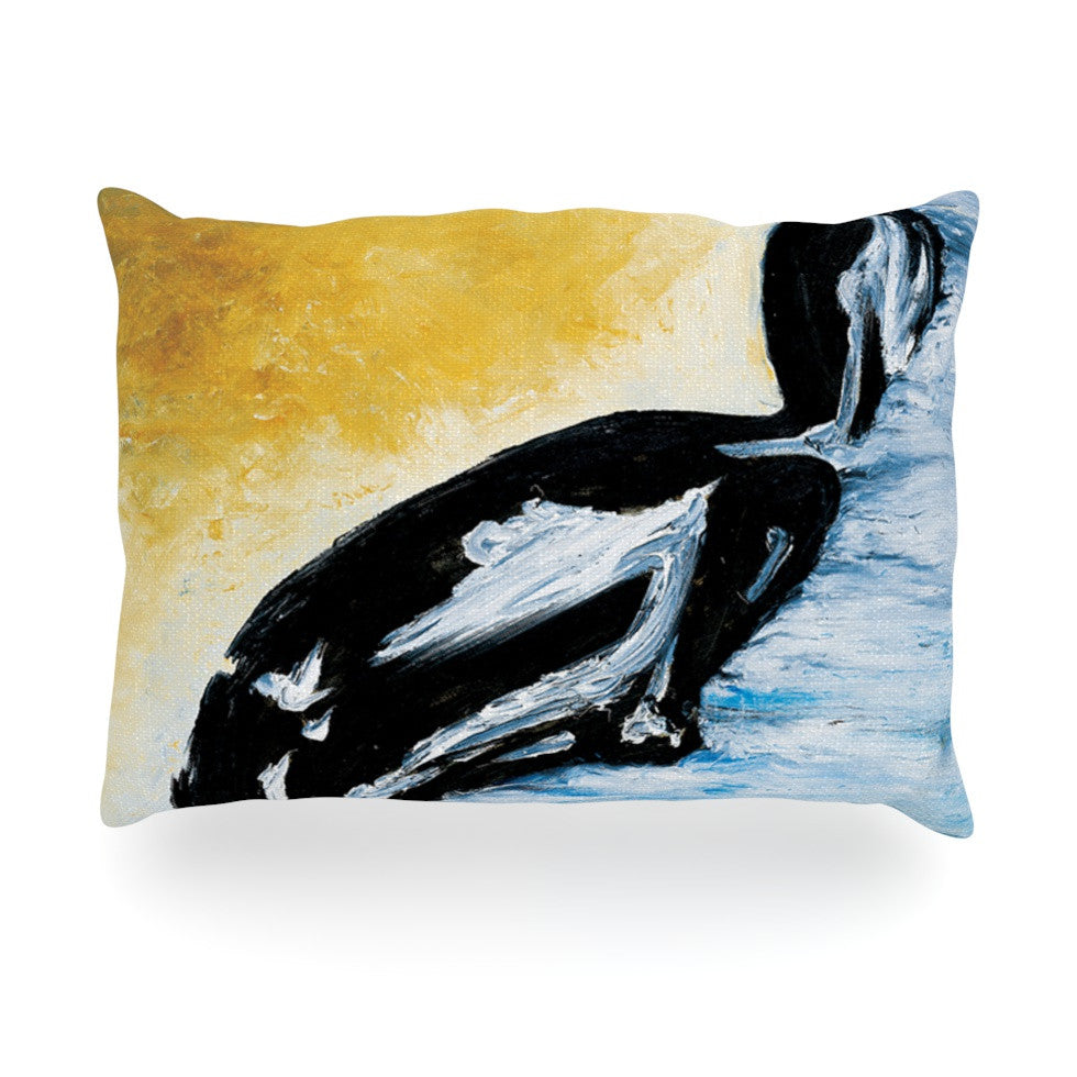 "Josh Serafin ""Hangin' 10"" Blue Orange Oblong Pillow - KESS InHouse"