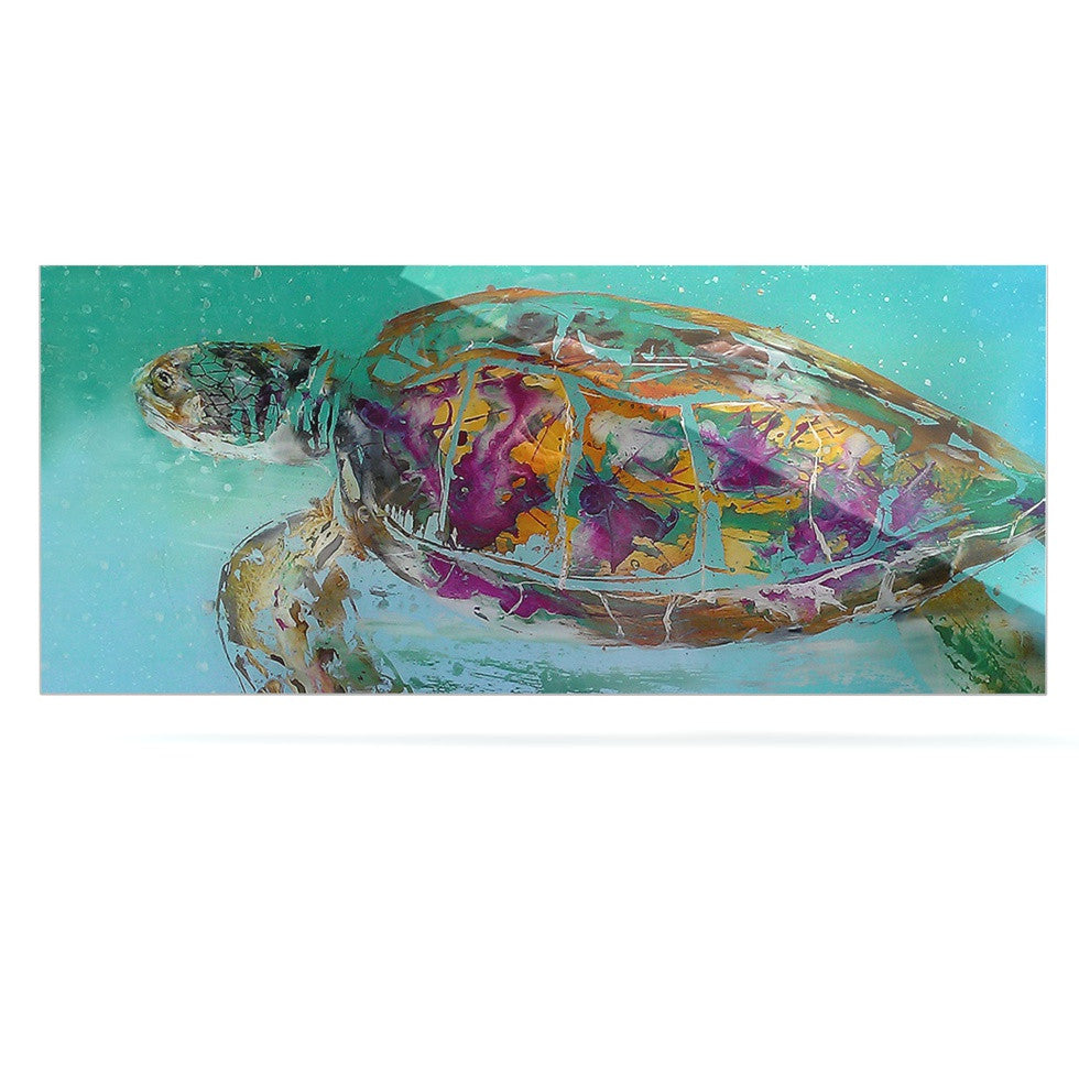 "Josh Serafin ""Mommy"" Turtle Luxe Rectangle Panel - KESS InHouse  - 1"