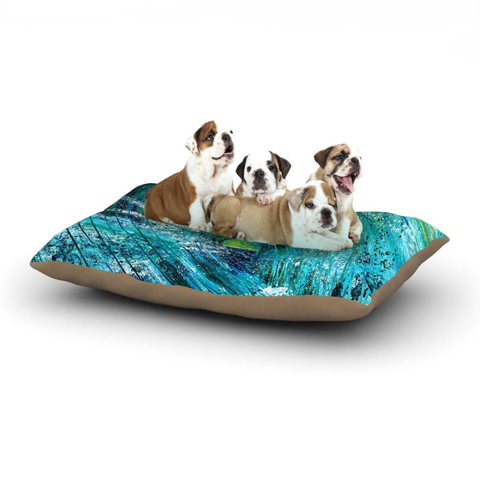 "Josh Serafin ""Natural High"" Blue Green Dog Bed - KESS InHouse  - 1"