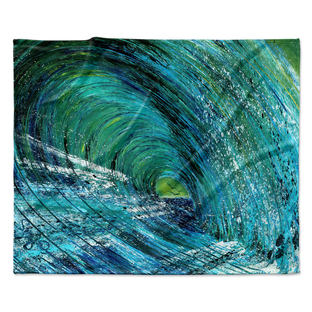 "Josh Serafin ""Natural High"" Blue Green Fleece Throw Blanket"