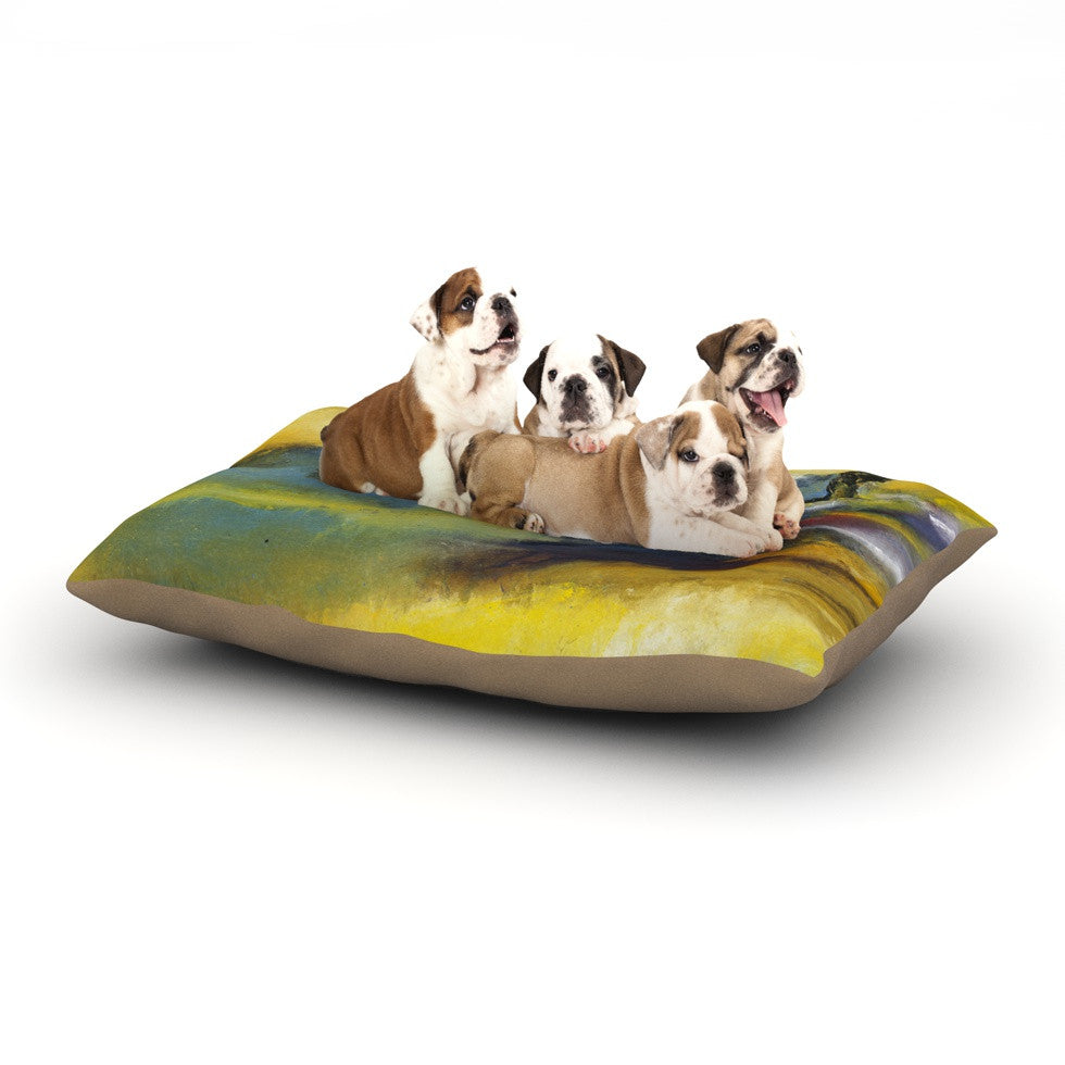 "Josh Serafin ""Sano"" Yellow Surf Dog Bed - KESS InHouse  - 1"