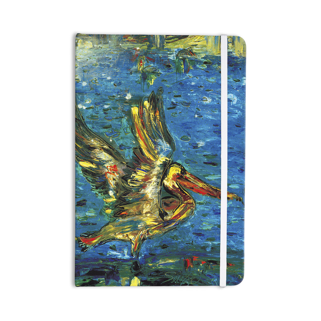 "Josh Serafin ""Seabirds"" Blue Yellow Everything Notebook - KESS InHouse  - 1"