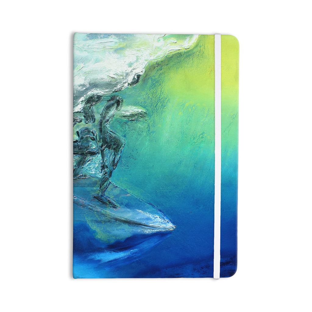 "Josh Serafin ""September High"" Blue Green Everything Notebook - KESS InHouse  - 1"
