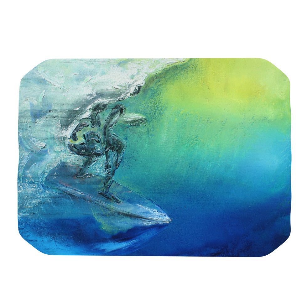 "Josh Serafin ""September High"" Blue Green Place Mat - KESS InHouse"