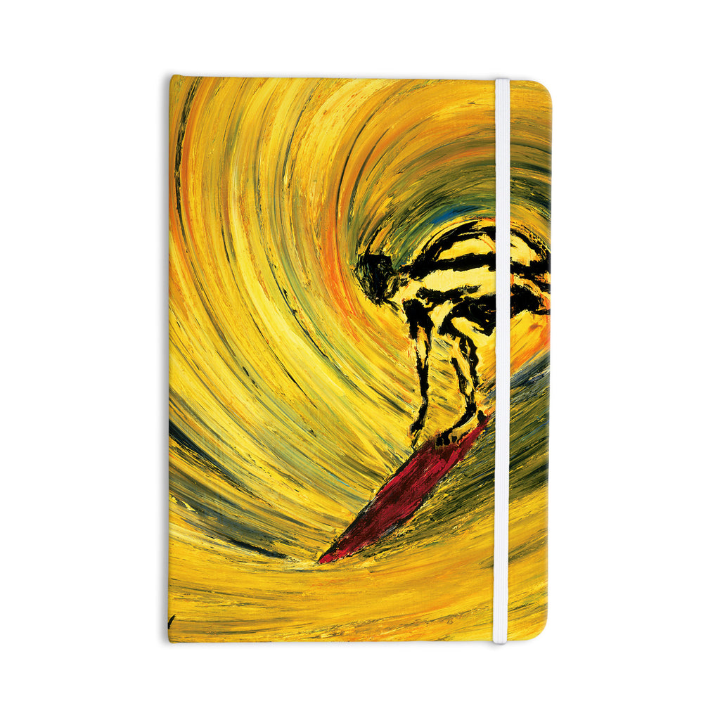 "Josh Serafin ""Suppose"" Yellow Black Everything Notebook - KESS InHouse  - 1"