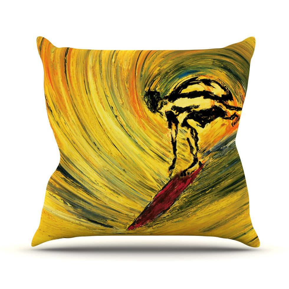 "Josh Serafin ""Suppose"" Yellow Black Throw Pillow - KESS InHouse  - 1"