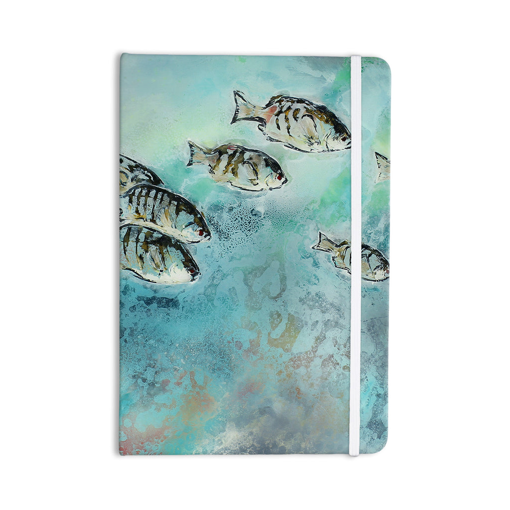 "Josh Serafin ""Surf Perch"" Blue Green Everything Notebook - KESS InHouse  - 1"