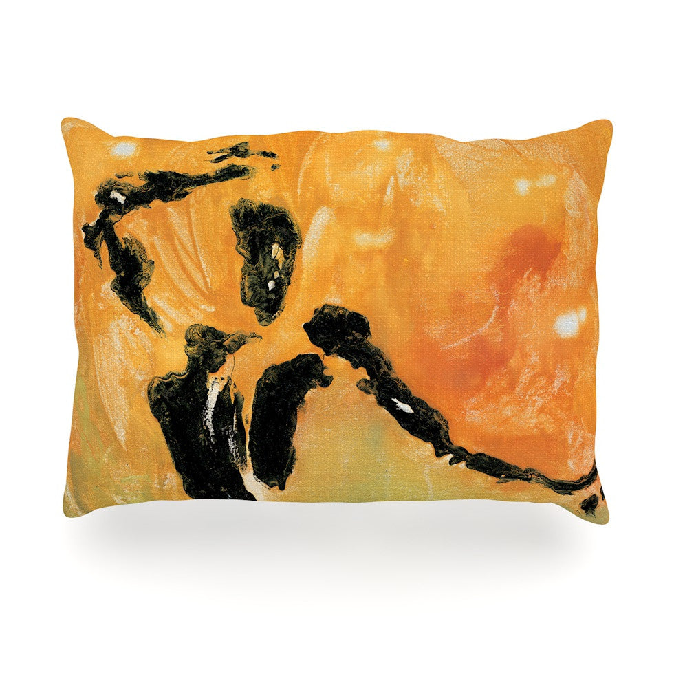 "Josh Serafin ""Hangin' 5"" Orange Yellow Oblong Pillow - KESS InHouse"