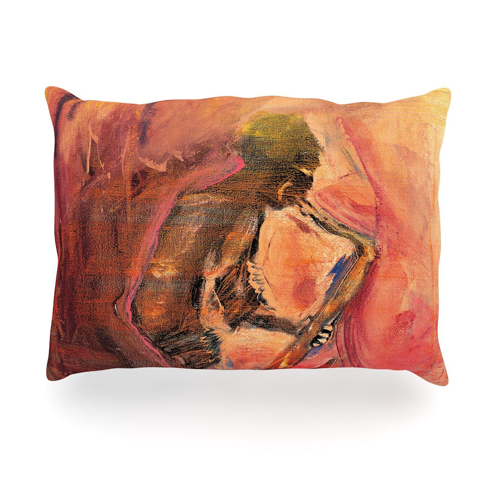 "Josh Serafin ""Catch the Wind"" Orange Red Oblong Pillow - KESS InHouse"