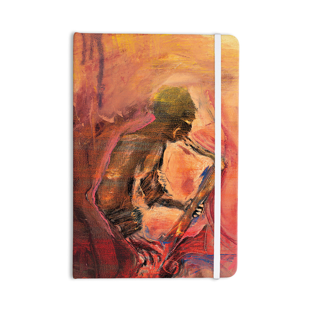"Josh Serafin ""Catch the Wind"" Orange Red Everything Notebook - KESS InHouse  - 1"