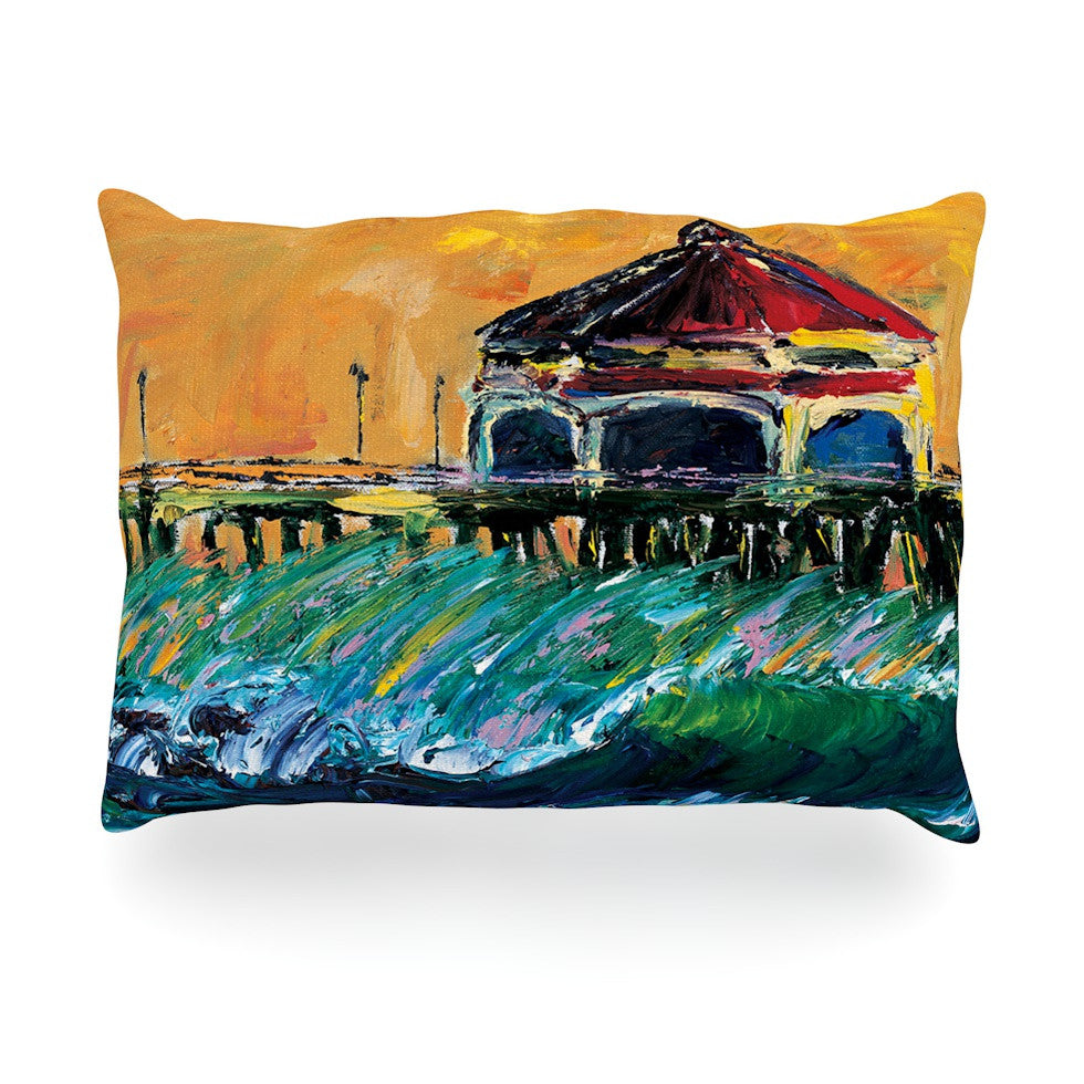 "Josh Serafin ""Offshore Beauty"" Multicolor Coastal Oblong Pillow - KESS InHouse"