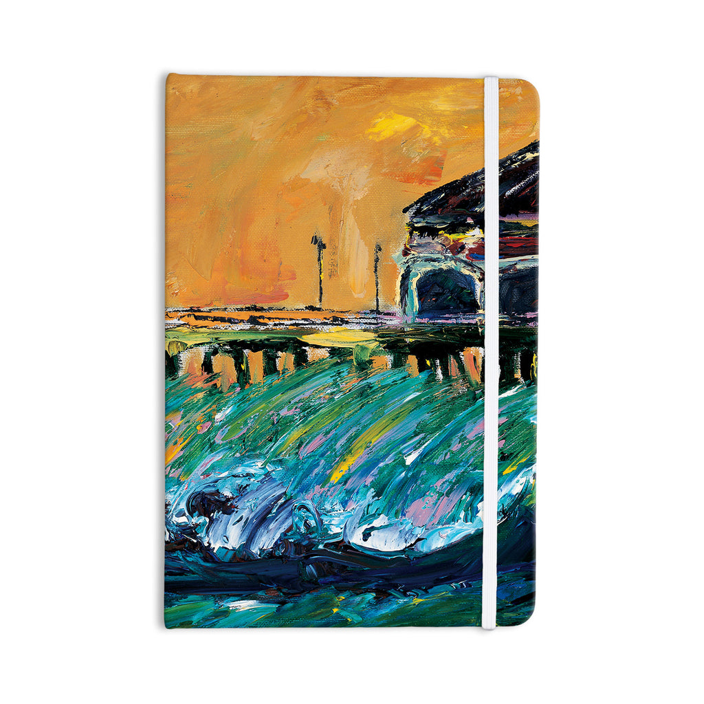 "Josh Serafin ""Offshore Beauty"" Multicolor Coastal Everything Notebook - KESS InHouse  - 1"