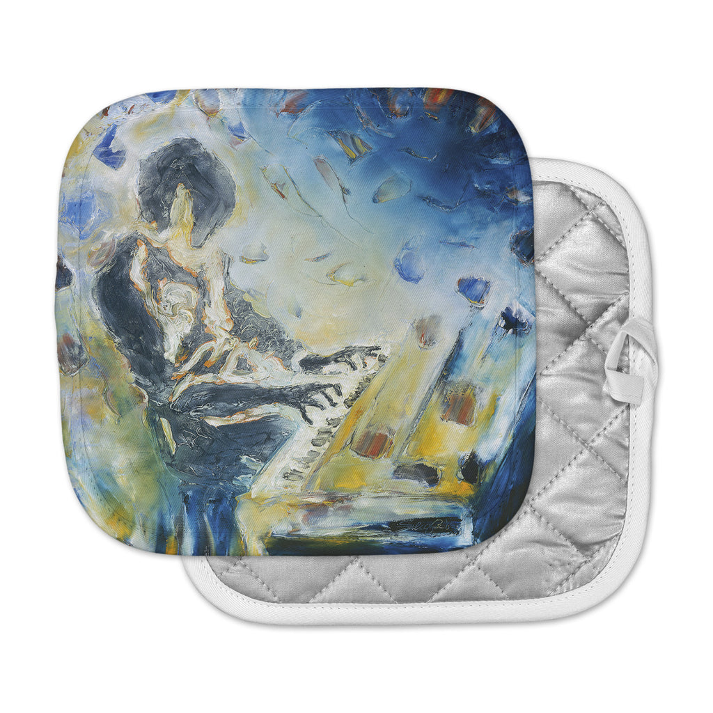 "Josh Serafin ""Riders on the Storm"" Piano Player Pot Holder"