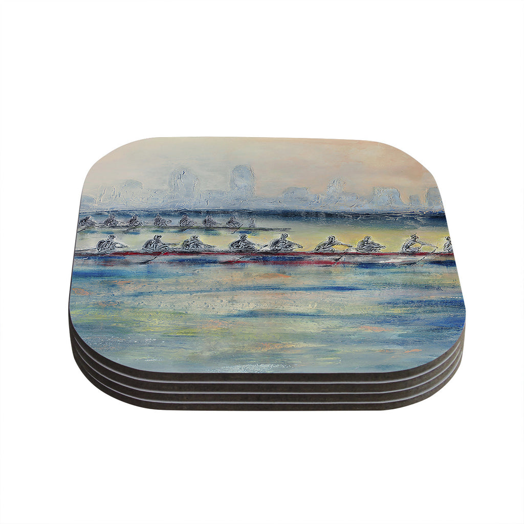 "Josh Serafin ""Crew"" Rowing Coasters (Set of 4)"