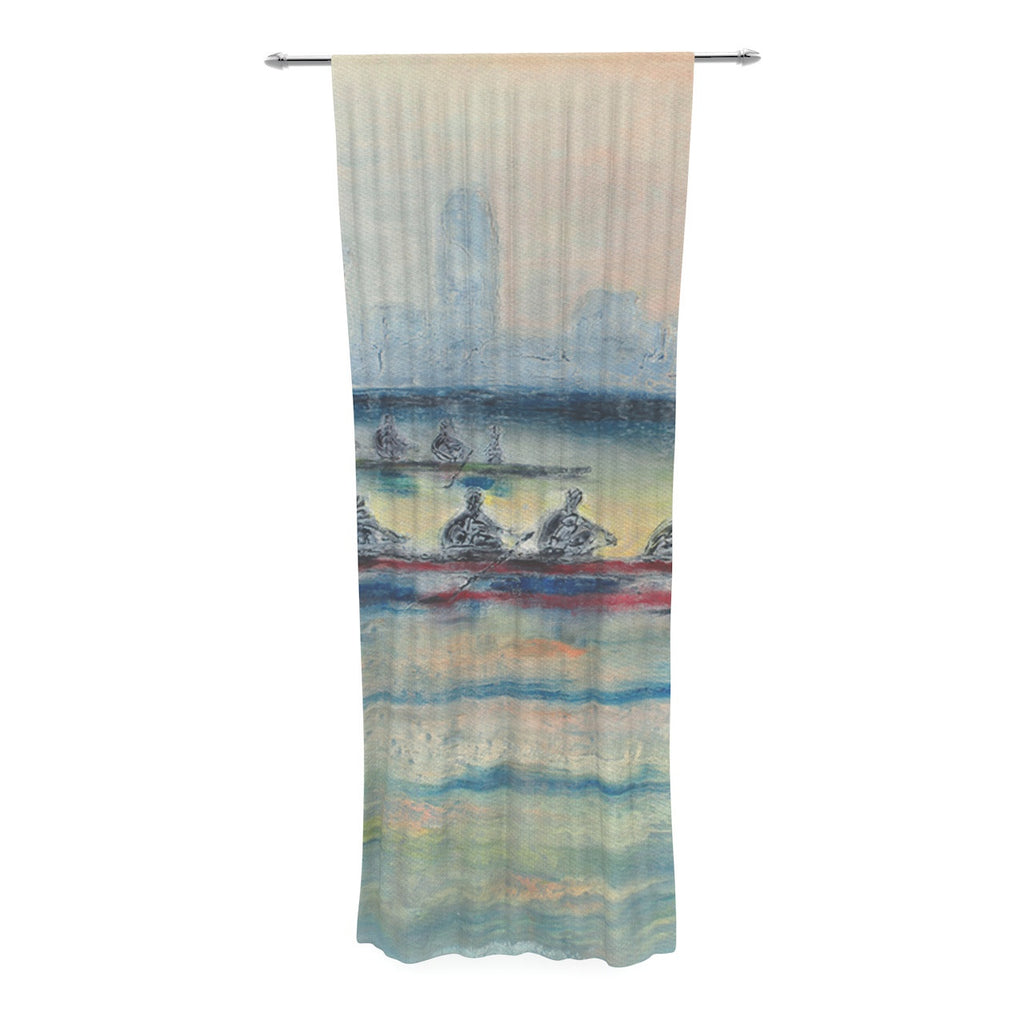 "Josh Serafin ""Crew"" Rowing Decorative Sheer Curtain - KESS InHouse  - 1"