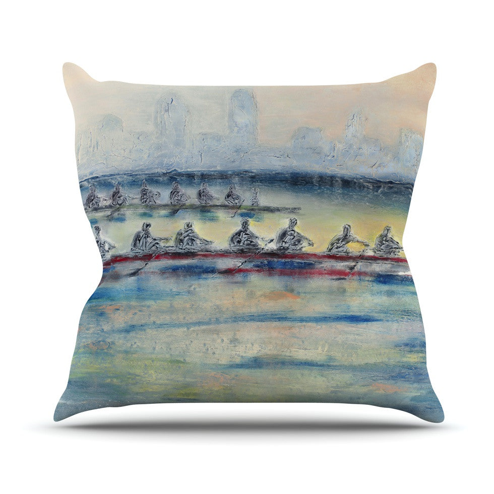 "Josh Serafin ""Crew"" Rowing Throw Pillow - KESS InHouse  - 1"