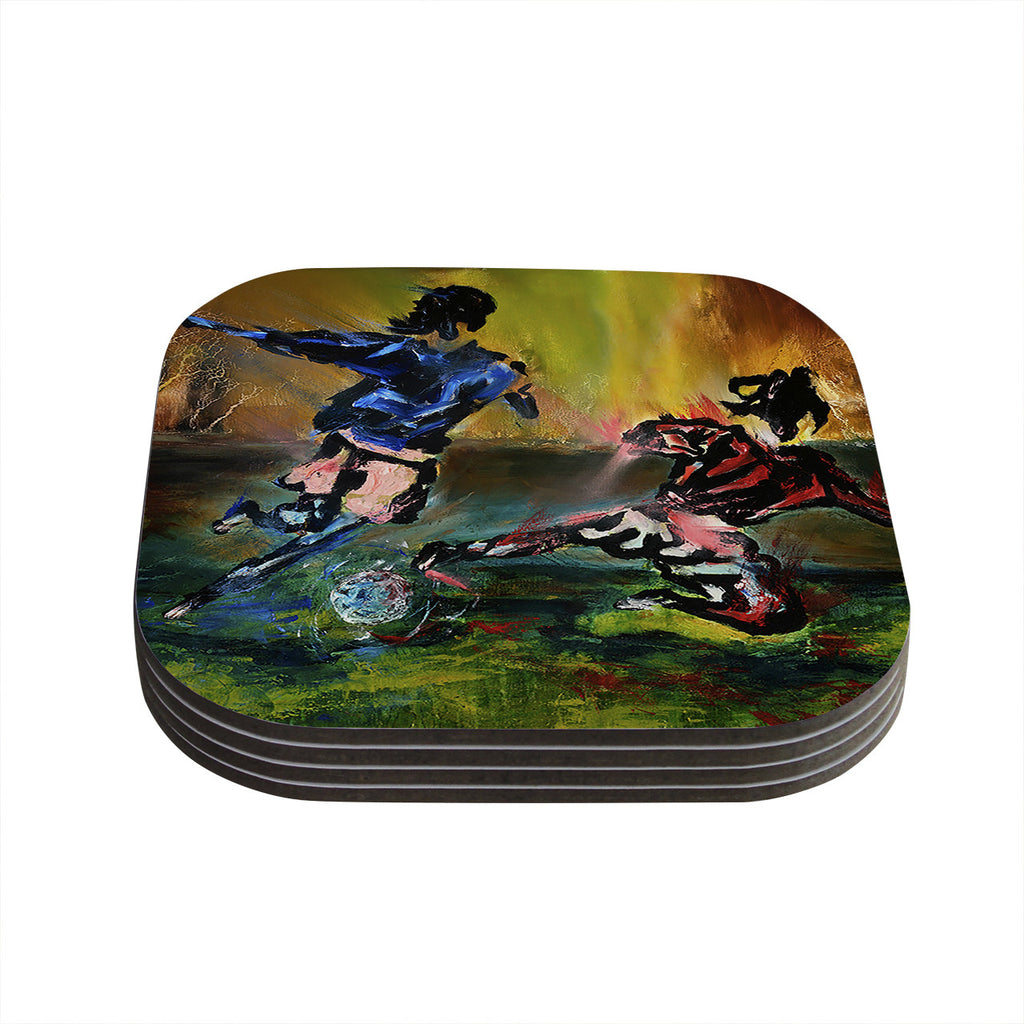 "Josh Serafin ""Slidetackle"" Soccer Coasters (Set of 4)"