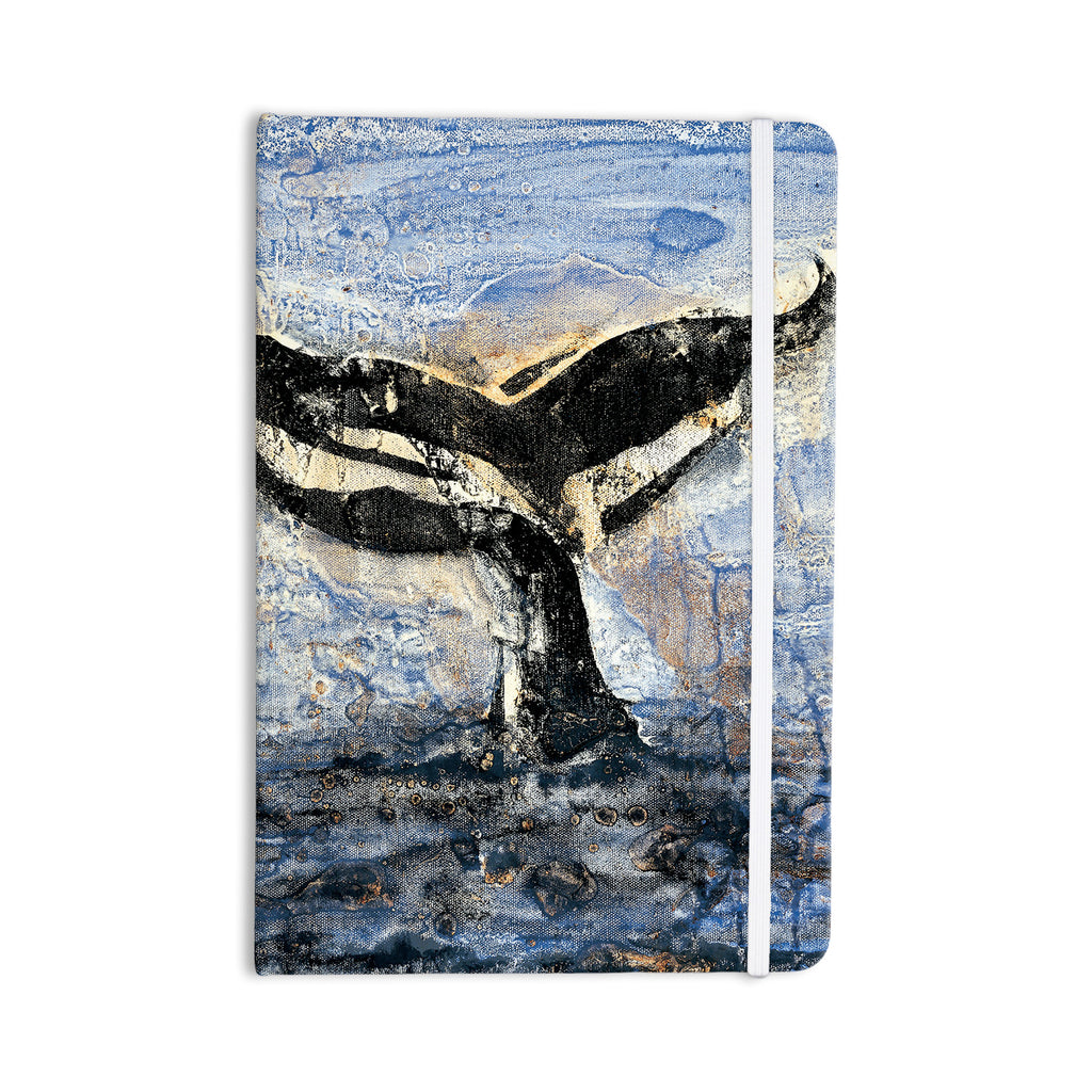 "Josh Serafin ""Whale Tail"" Coastal Painting Everything Notebook - KESS InHouse  - 1"