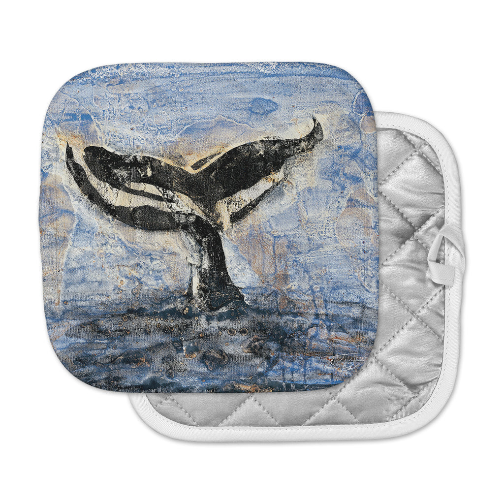 "Josh Serafin ""Whale Tail"" Coastal Painting Pot Holder"