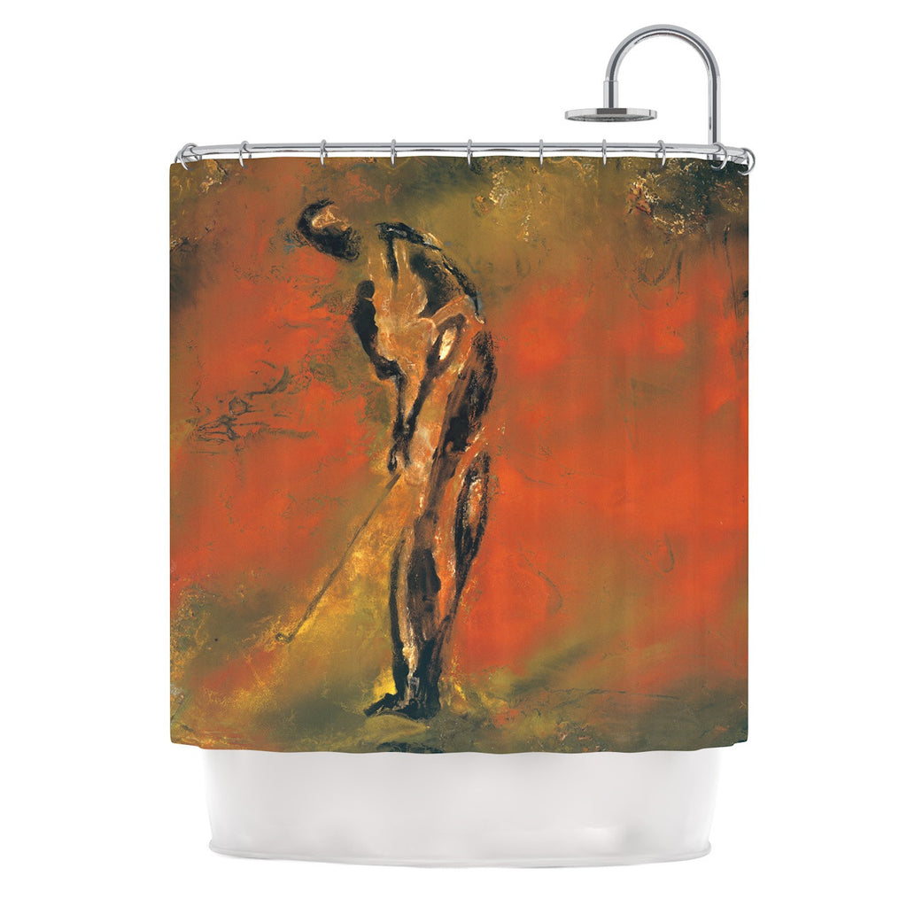 "Josh Serafin ""Chip"" Golf Player Shower Curtain - KESS InHouse"