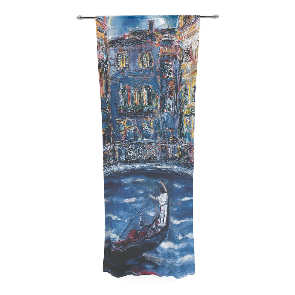 "Josh Serafin ""Venice"" Travel Italy Decorative Sheer Curtain - KESS InHouse  - 1"