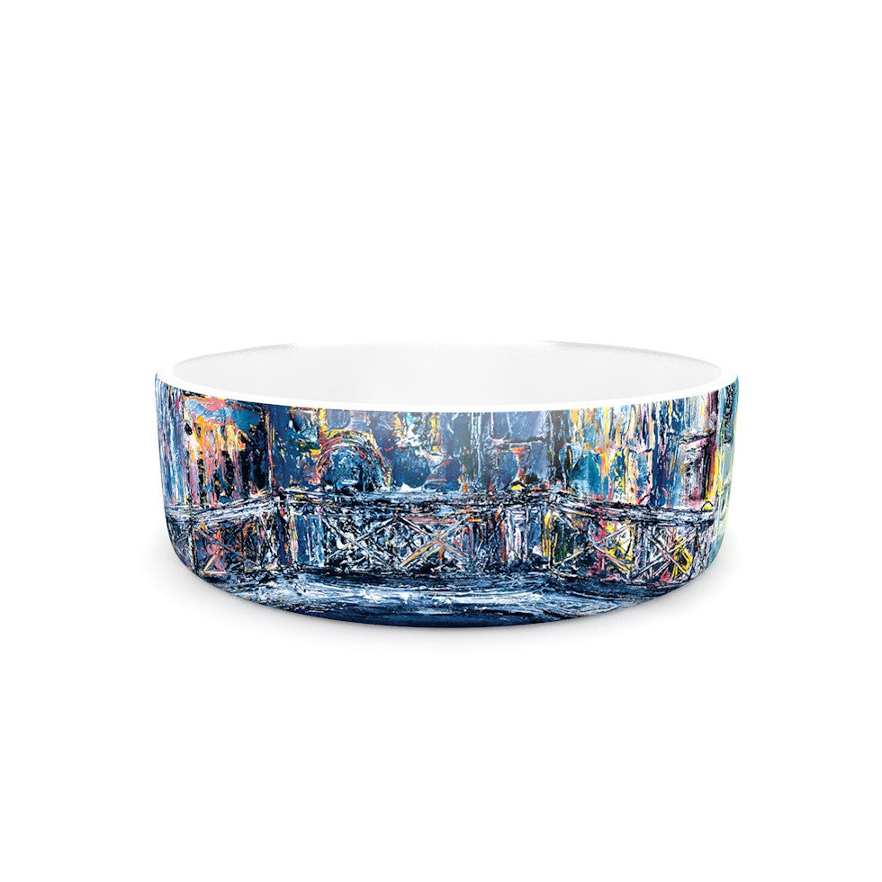 "Josh Serafin ""Venice"" Travel Italy Pet Bowl - KESS InHouse"