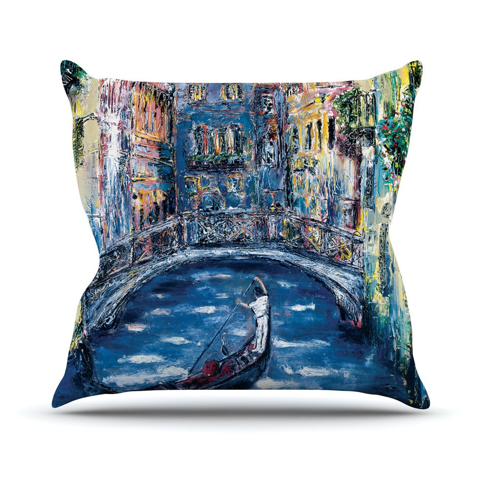 "Josh Serafin ""Venice"" Travel Italy Outdoor Throw Pillow - KESS InHouse  - 1"