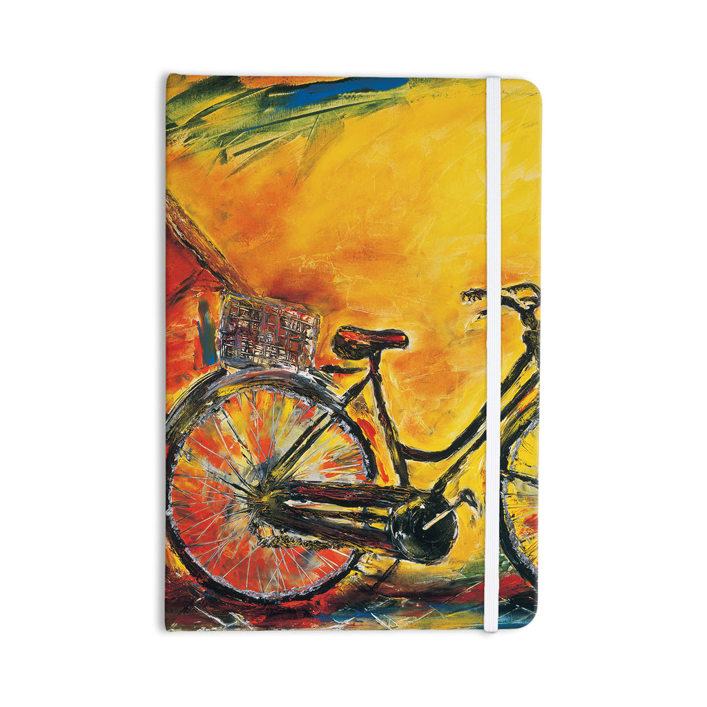 "Josh Serafin ""To Go"" Yellow Bicycle Everything Notebook - KESS InHouse  - 1"