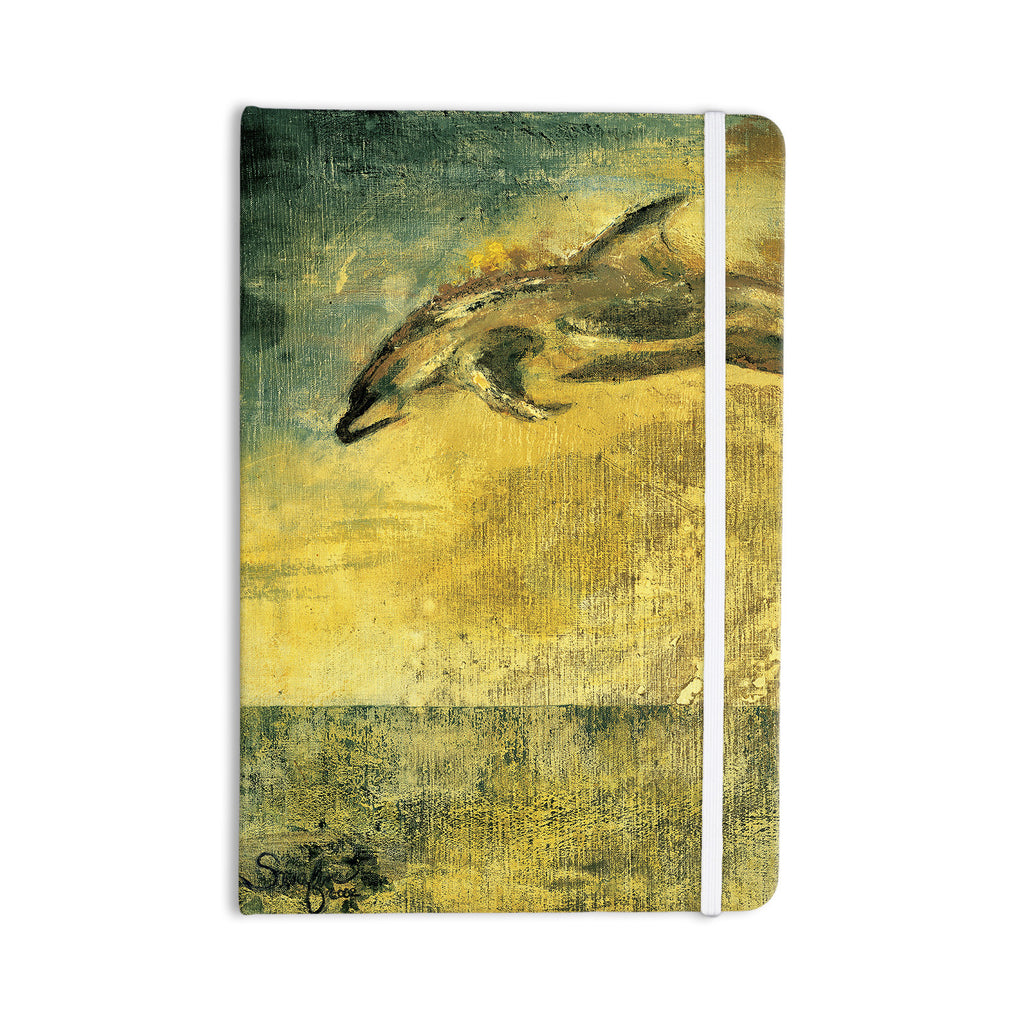 "Josh Serafin ""No Reason to Hide"" Yellow Brown Everything Notebook - KESS InHouse  - 1"