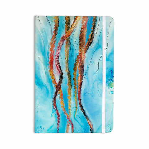 "Josh Serafin ""Jelly"" Blue White Coastal Painting Mixed Media Everything Notebook"