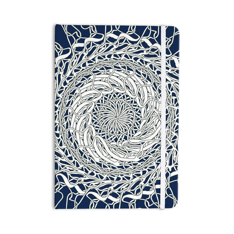 "Pattern Muse ""Mandala Spin Navy"" Blue White Everything Notebook - Outlet Item"