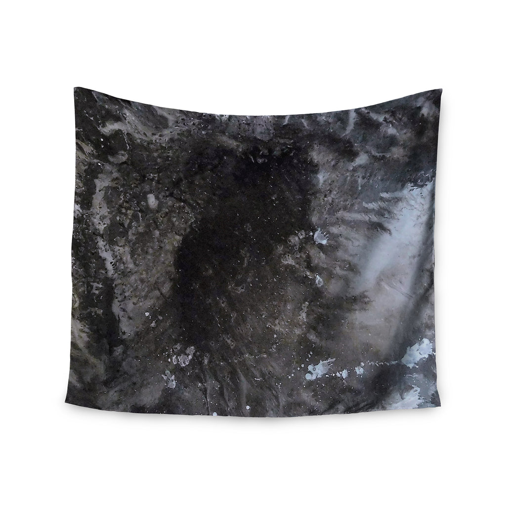 "Abstract Anarchy Design ""Crepuscular Nebula"" Gray Black Wall Tapestry - Outlet Item"