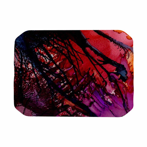 "Abstract Anarchy Design ""Daisy"" Purple Yellow Place Mat - KESS InHouse"