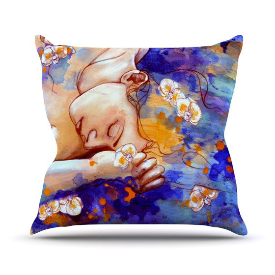 "Kira Crees ""A Deeper Sleep"" Outdoor Throw Pillow - KESS InHouse  - 1"