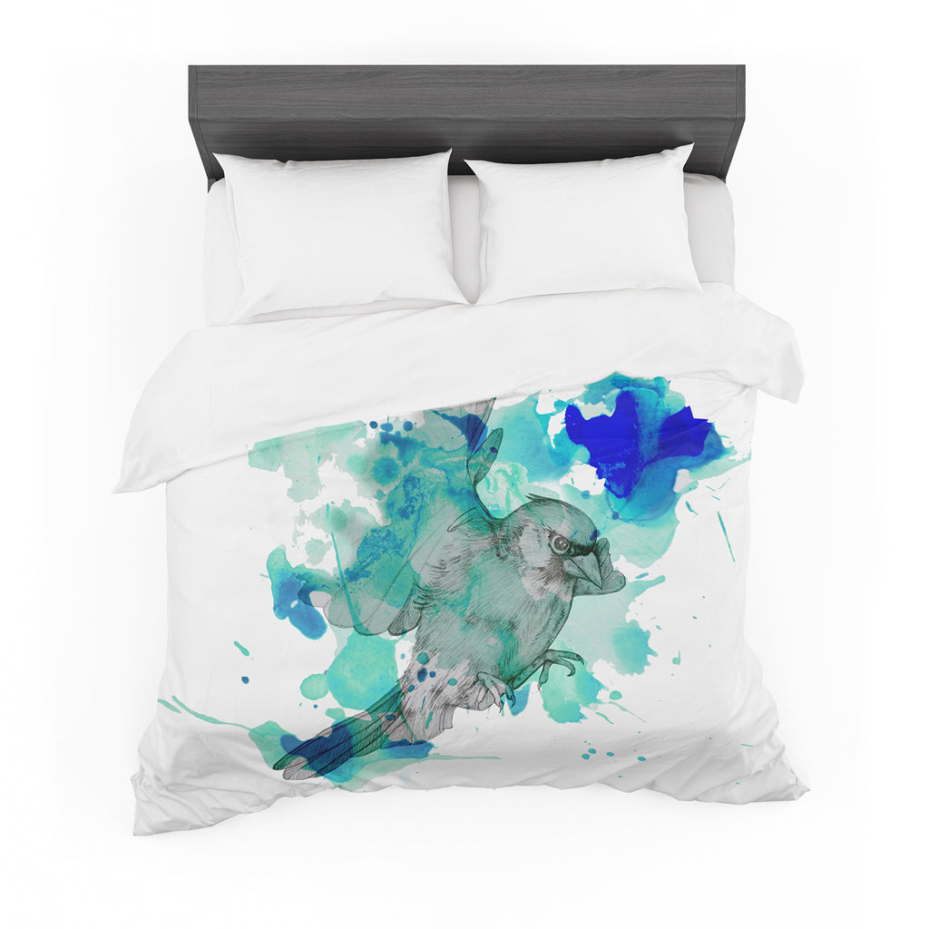 "Kira Crees ""A Cardinal In Blue"" Cotton Duvet"