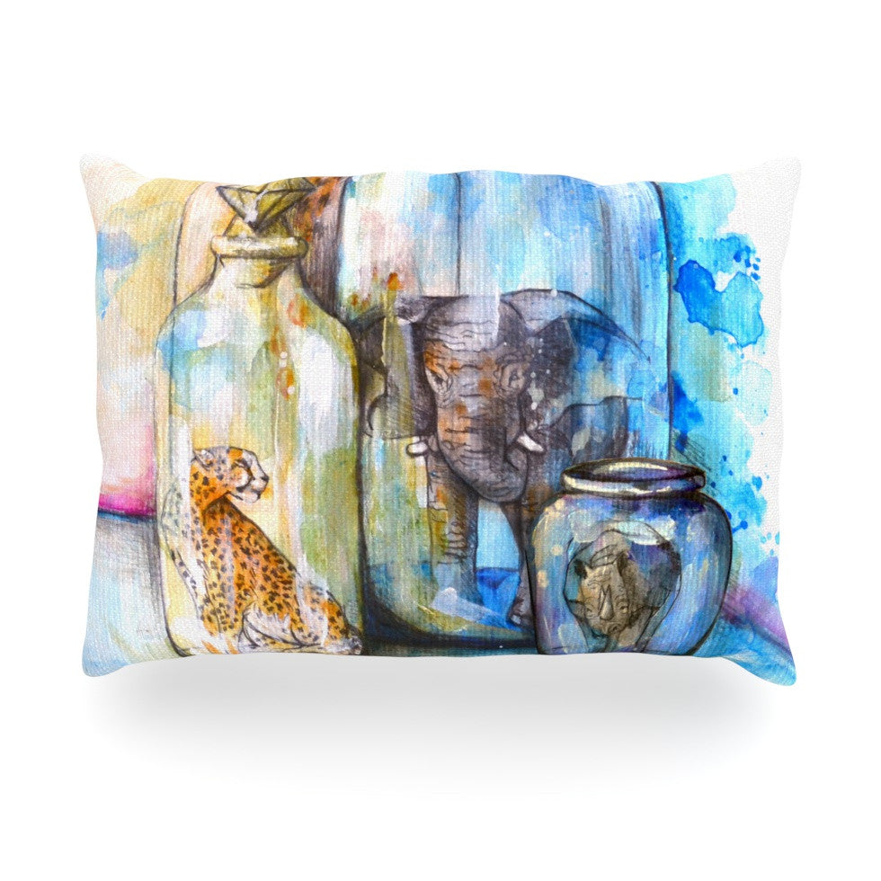"Kira Crees ""Bottled Animals"" Oblong Pillow - KESS InHouse"
